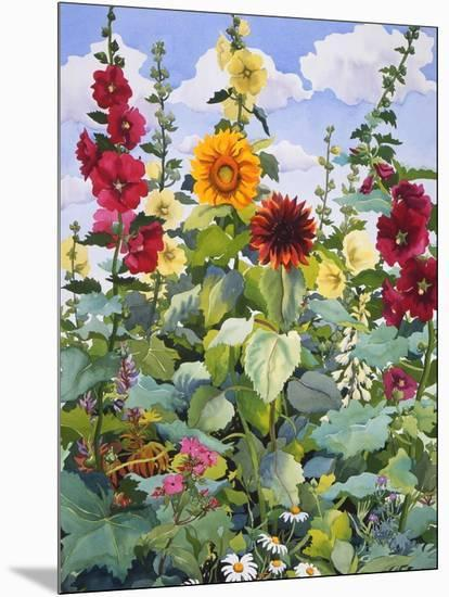 Hollyhocks and Sunflowers, 2005-Christopher Ryland-Mounted Giclee Print