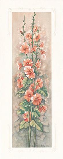 Hollyhocks II-Peggy Thatch Sibley-Art Print