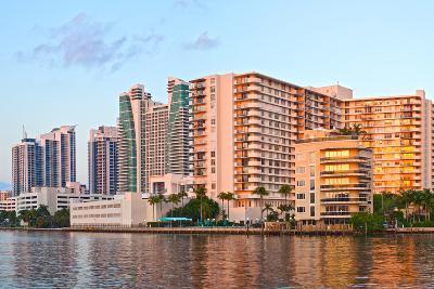Hollywood Beach Florida at Sunset-Fotomak-Photographic Print