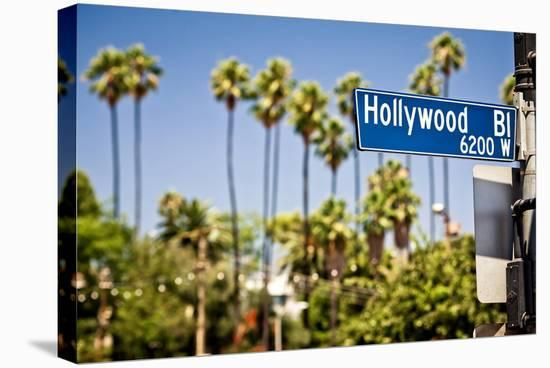 Hollywood Boulevard Sign--Stretched Canvas Print