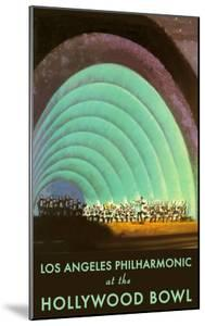 Hollywood Bowl Poster, Los Angeles, California