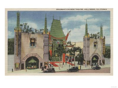 Hollywood, CA - View of Grauman's Chinese Theatre-Lantern Press-Art Print