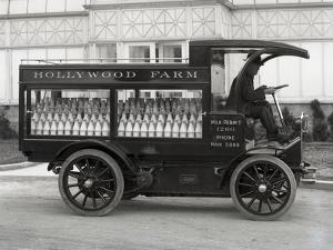 Hollywood Farm Milk Delivery Truck, Seattle, 1913