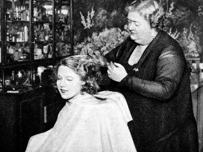 Hollywood Hair Dressing Salon, Miss Annie Ondra Having Her Hair Done--Photographic Print