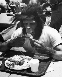 Even Apes Need a Break by Hollywood Historic Photos