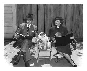 'The Thin Man' William Powell, Myrna Loy & Asta by Hollywood Historic Photos