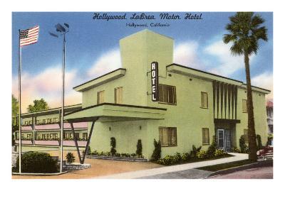 Hollywood La Brea Motel, Los Angeles, California--Art Print