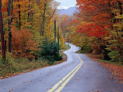 Hollywood Rd at Route 28, Adirondack Mountains, NY-Jim Schwabel-Photographic Print