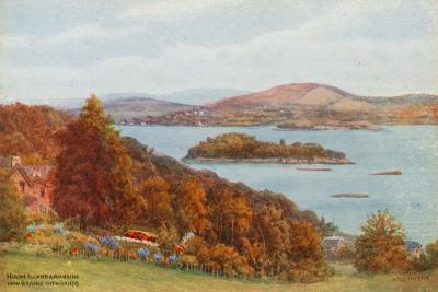 Holme Island and Arnside, from Grange-Over-Sands-Alfred Robert Quinton-Giclee Print