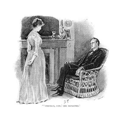 Holmes and Mrs. St. Clair-Sidney Paget-Giclee Print