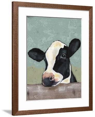 Holstein Cow II-Jade Reynolds-Framed Art Print