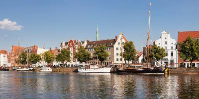 Holstenhafen on the River Untertrave, Lubeck, Schleswig-Holstein, Germany--Photographic Print