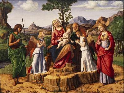 Holy Conversation or Madonna Enthroned with Child-Giovanni Battista Cima Da Conegliano-Giclee Print