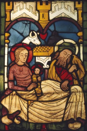 Holy Family in the Stable from a Swedish Church, c20th century-Unknown-Giclee Print