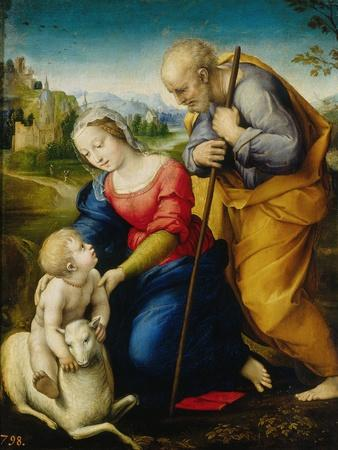 Holy Family of the Cordero-Raphael-Giclee Print