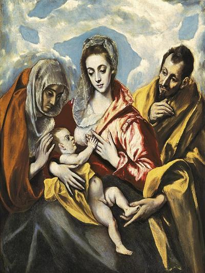 Holy Family with Saint Anne-El Greco-Art Print
