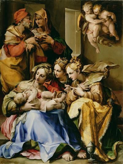 Holy Family with Saints Anne, Catherine of Alexandria, and Mary Magdalene, c.1560-9-Nosadella-Giclee Print