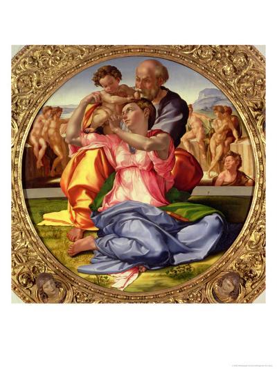 Holy Family with St. John, 1504-05-Michelangelo Buonarroti-Giclee Print