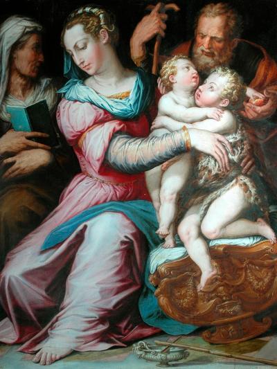 Holy Family with St John-Giorgio Vasari-Giclee Print