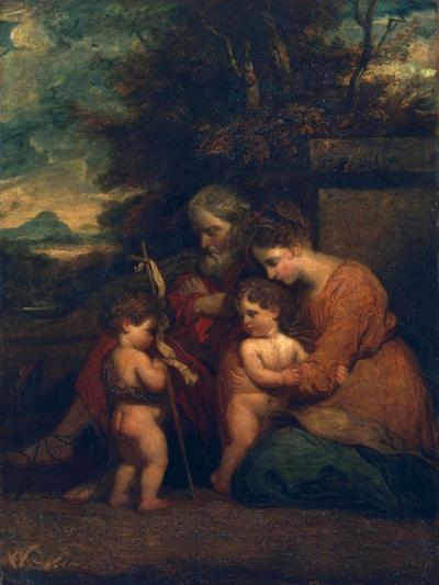 Holy Family-Sir Joshua Reynolds-Giclee Print
