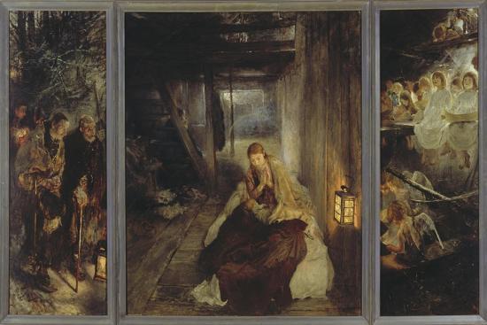 Holy Night (Triptych), 1888-89-Fritz von Uhde-Giclee Print