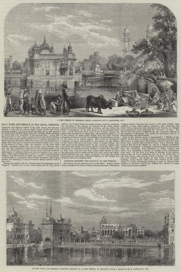 Holy Tank and Temple of the Sikhs-William Carpenter-Giclee Print