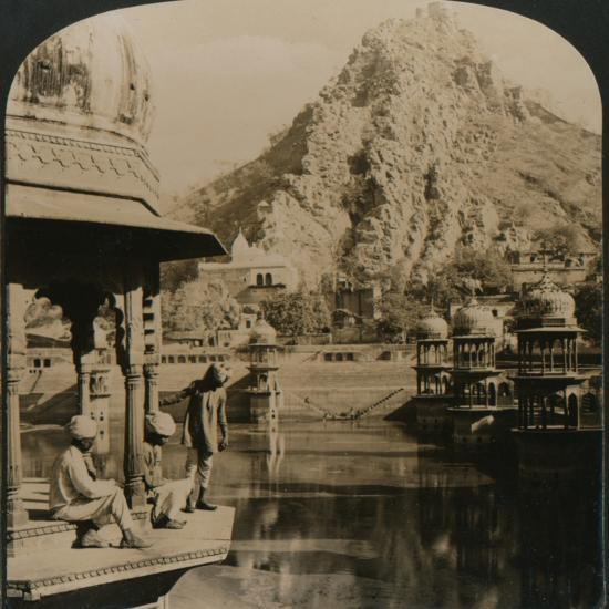 Holy Tank of Alwar, surrounded with palaces and shrines, a scene of surpassing beauty, India'-Unknown-Photographic Print