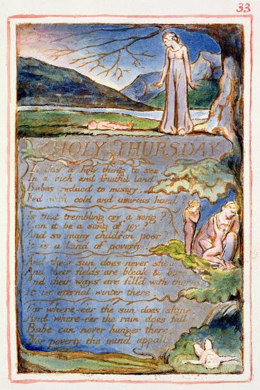 Holy Thursday: Plate 33 from Songs of Innocence and of Experience C.1815-26-William Blake-Giclee Print