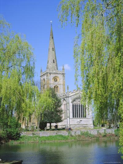 Holy Trinity Church from the River Avon, Stratford-Upon-Avon, Warwickshire, England, UK, Europe-David Hunter-Photographic Print