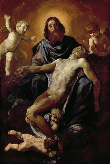 Holy Trinity-Simone Cantarini-Giclee Print