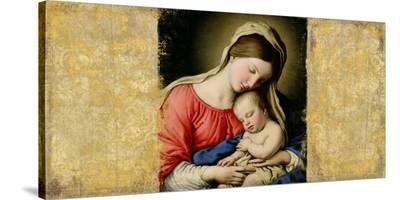 Holy Virgin (After Sassoferrato)-Simon Roux-Stretched Canvas Print