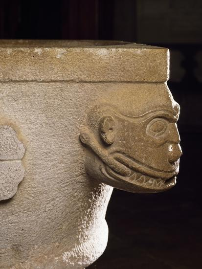 Holy Water Font Resting on Upside Down Roman Capital--Giclee Print