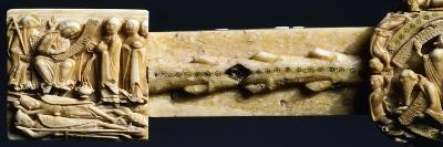 Holy Women at Jesus' Tomb, Decorative Detail from the Cloisters Cross, Ivory--Giclee Print