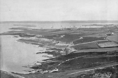 'Holyhead - The Breakwater', 1895-Unknown-Framed Photographic Print