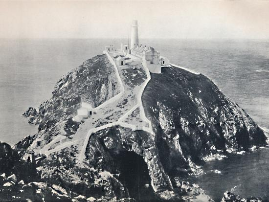 'Holyhead - The South Stack, Lighthouse', 1895-Unknown-Photographic Print
