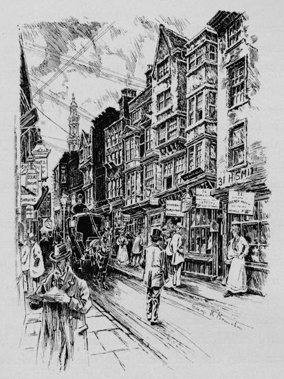 Holywell Street, Westminster, London, c1890 (1911)-Unknown-Giclee Print