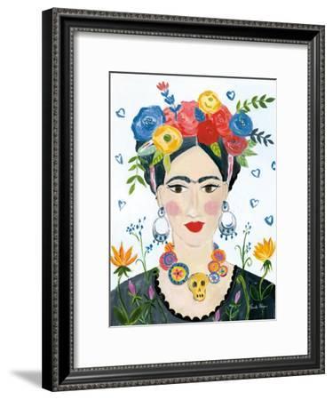 Homage to Frida II Bright-Farida Zaman-Framed Art Print