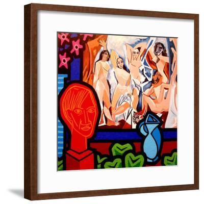 Homage to Picasso 1-John Nolan-Framed Giclee Print