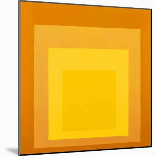 Homage To The Square-Josef Albers-Mounted Art Print