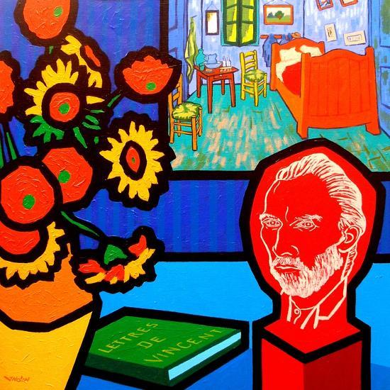 Homage to Van Gogh 3-John Nolan-Giclee Print
