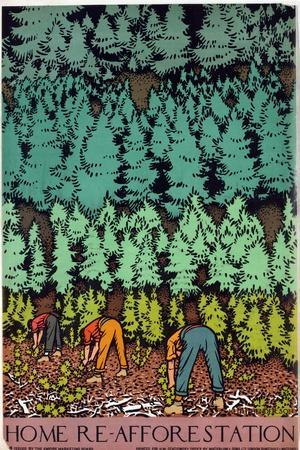 Home Afforestation-Keith Henderson-Giclee Print