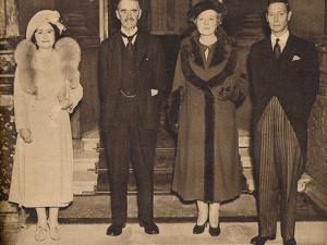 Home Again - the King, the Queen, with Mr. and Mrs. Chamberlain, 1938, (1938)
