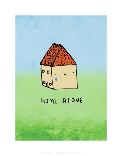 Home Alone - Katie Abey Cartoon Print-Katie Abey-Art Print