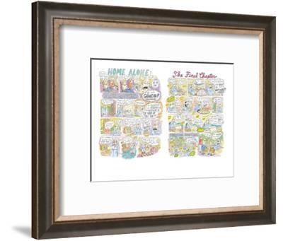Home Alone: The Final Chapter - New Yorker Cartoon-Roz Chast-Framed Premium Giclee Print