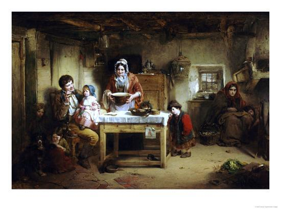 Home and the Homeless, 1856-Thomas Faed-Giclee Print