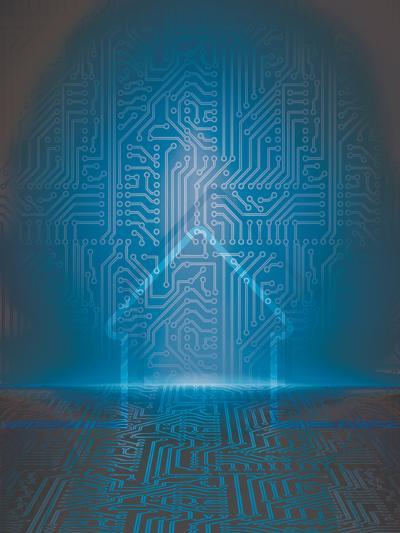 Home Automation Background-germina-Art Print