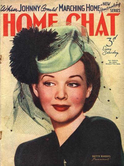 Home Chat, Hats Magazine, UK, 1940--Giclee Print