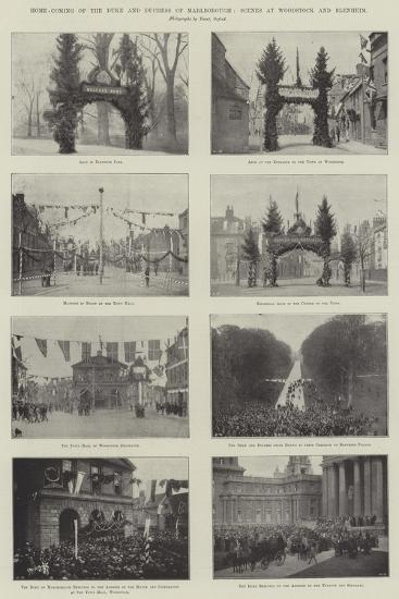 Home-Coming of the Duke and Duchess of Marlborough, Scenes at Woodstock and Blenheim--Giclee Print