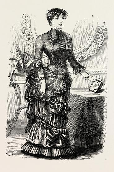 Home Dinner Toilette, Fashion, 1882--Giclee Print