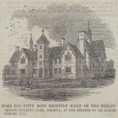 Home for Fifty Boys Recently Built on the Philan-Thropic Society's Farm--Giclee Print